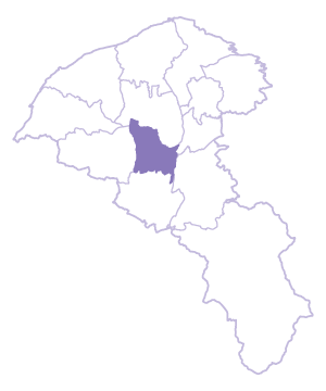 Pingzhen Dist. location map