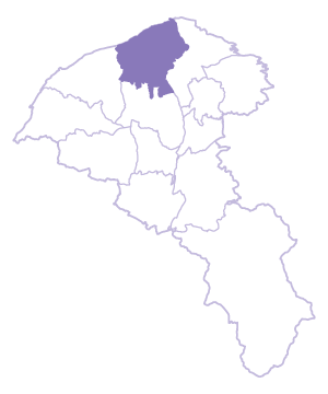 Dayuan Dist. location map
