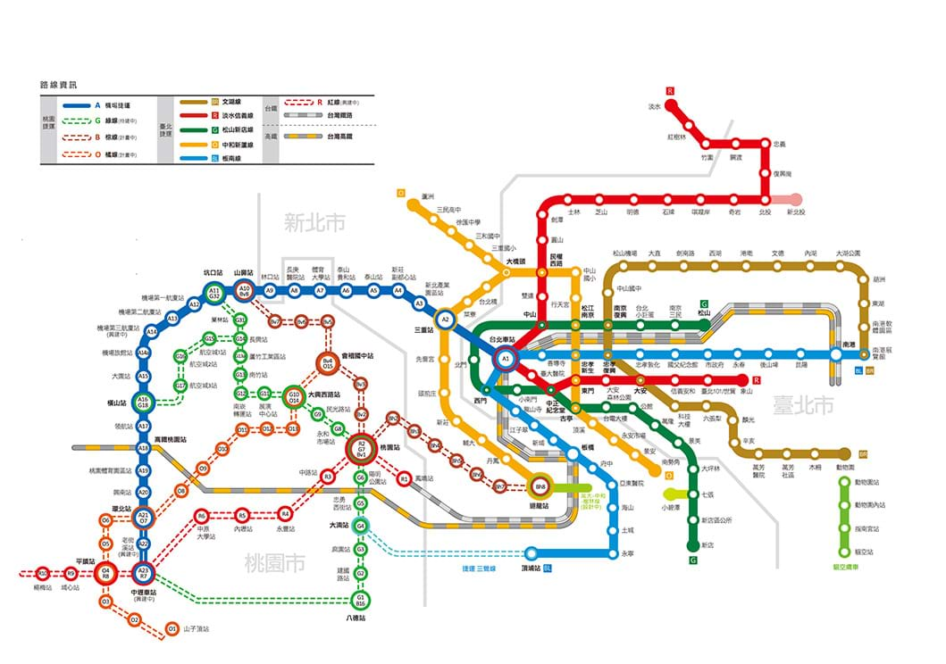 Metro Route Map Vision