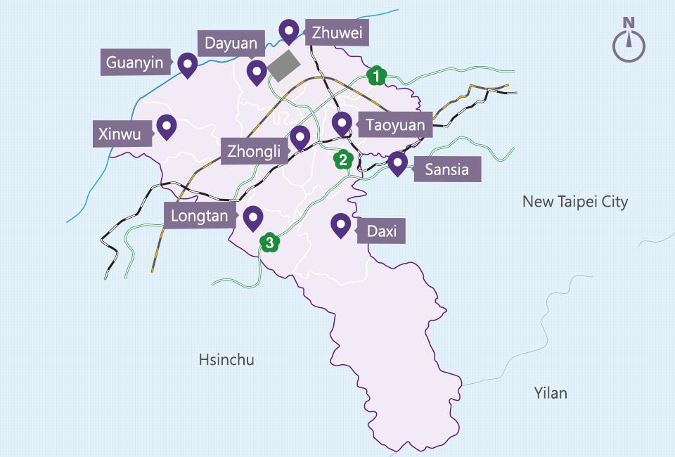 Long Distance Passenger Taoyuan Tourism